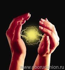 энергетический шар в руке