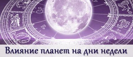планеты и дни недели