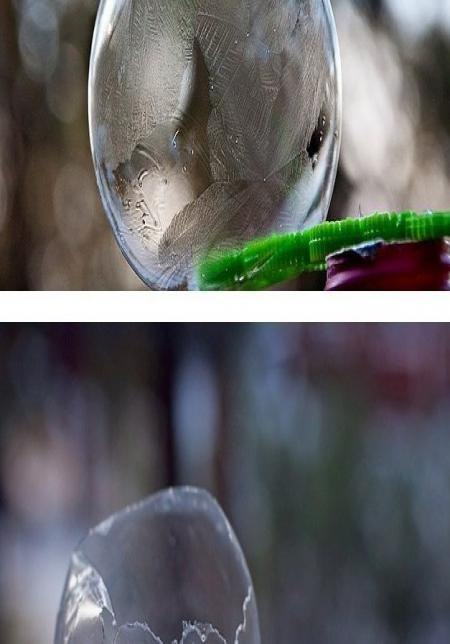 мыльный пузырь на морозе
