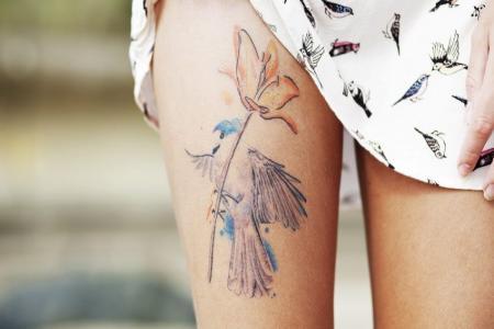 наносить или сводить татуировки
